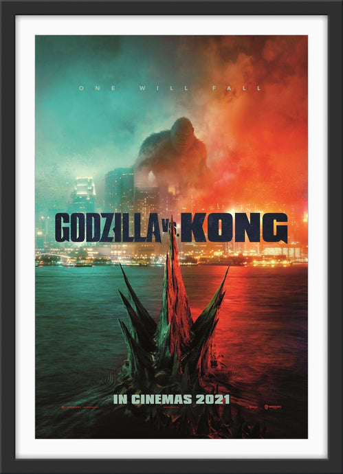 An original movie poster for the film Godzilla vs Kong - 2021
