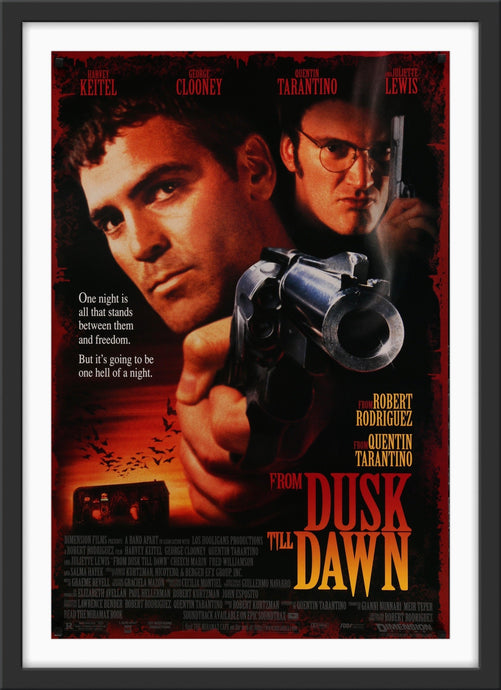 An original movie poster for the film From Dusk Till Dawn
