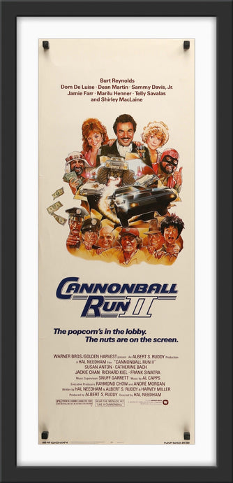 An original movie poster for the film Cannonball Run II / 2