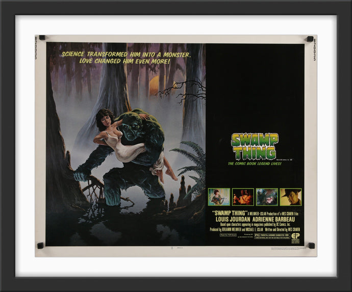 An original movie poster for the Wes Craven movie Swamp Thing