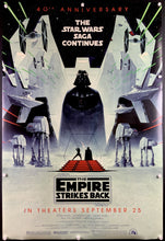 Load image into Gallery viewer, An original 49th Anniversary movie poster for the Star Wars film The Empire Strikes Back