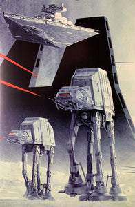 An original 49th Anniversary movie poster for the Star Wars film The Empire Strikes Back