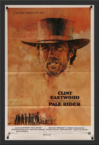 An original movie poster for the Clint Eastwood film Pale Rider