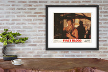 Load image into Gallery viewer, An original lobby card for the Sylvester Stallone film First Blood