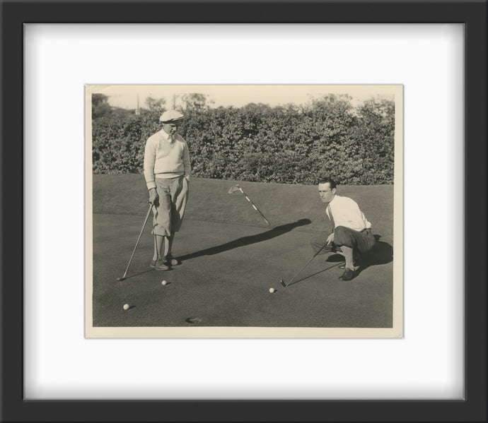 An original publicity photo from the 1920s of Harold Lloyds playing golf by Gene Korman