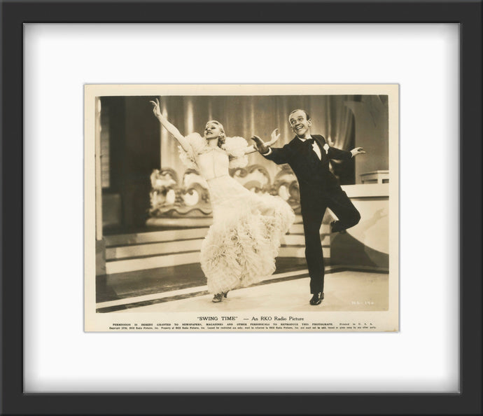 A guaranteed original 8x10 theatrical movie still of Ginger Rogers and Fred Astaire from George Stevens' 1936 musical comedy