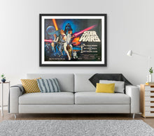 Load image into Gallery viewer, An original Tom Chantrell UK Quad for Star Wars (A New Hope)
