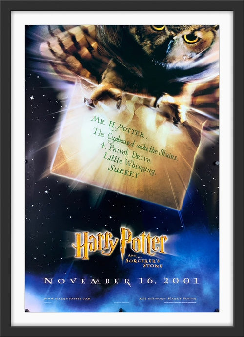 An original movie poster for the film Harry Potter and Philosopher's / Sorcerer's Stone