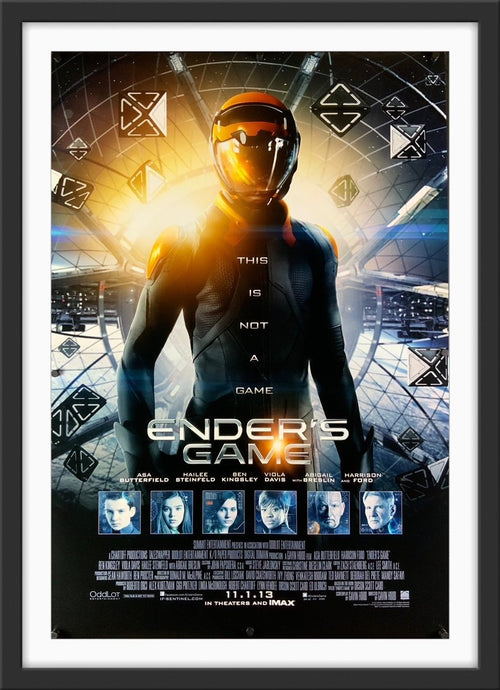 An original movie poster for the film Ender's Game