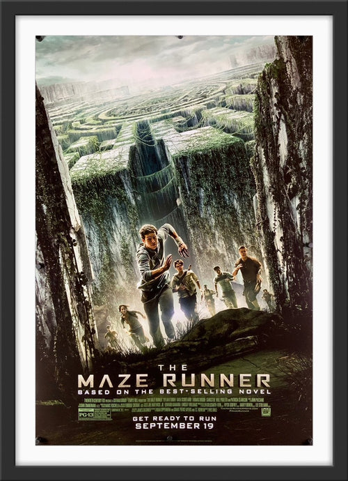 An original movie poster for the film The Maze Runner
