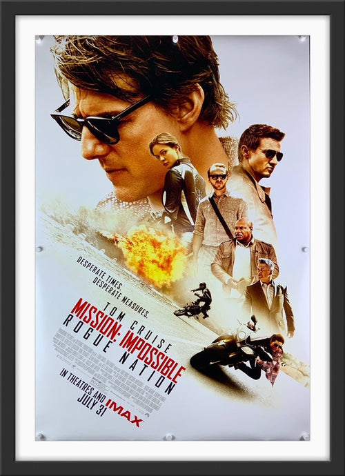 An original movie poster of the film Mission Impossible Rogue Nation