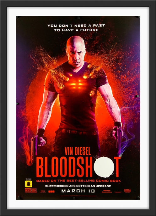 An original movie poster for the film Bloodshot