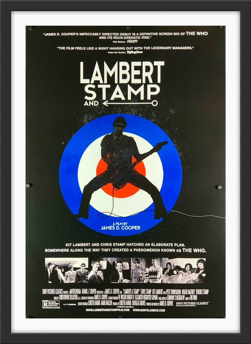 An original movie poster for the Who film Lambert and Stamp