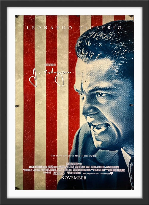 An original movie poster for the Clint Eastwood film J. Edgar