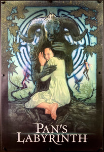 An original movie poster for the film Pan's Labyrinth with artwork by Drew Struzan