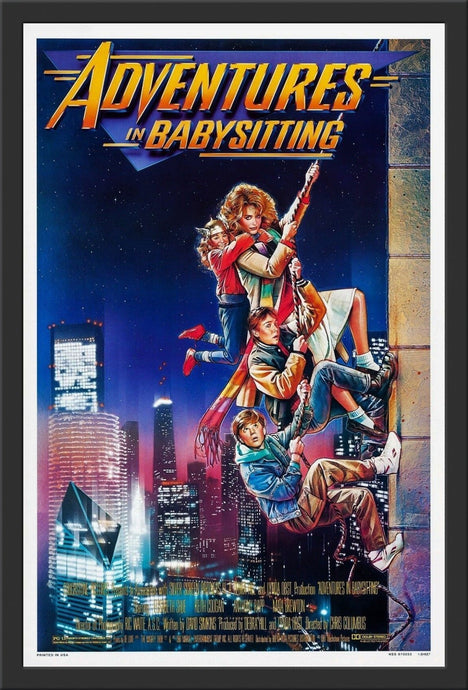 An original movie poster for the film Adventures In Babysitting