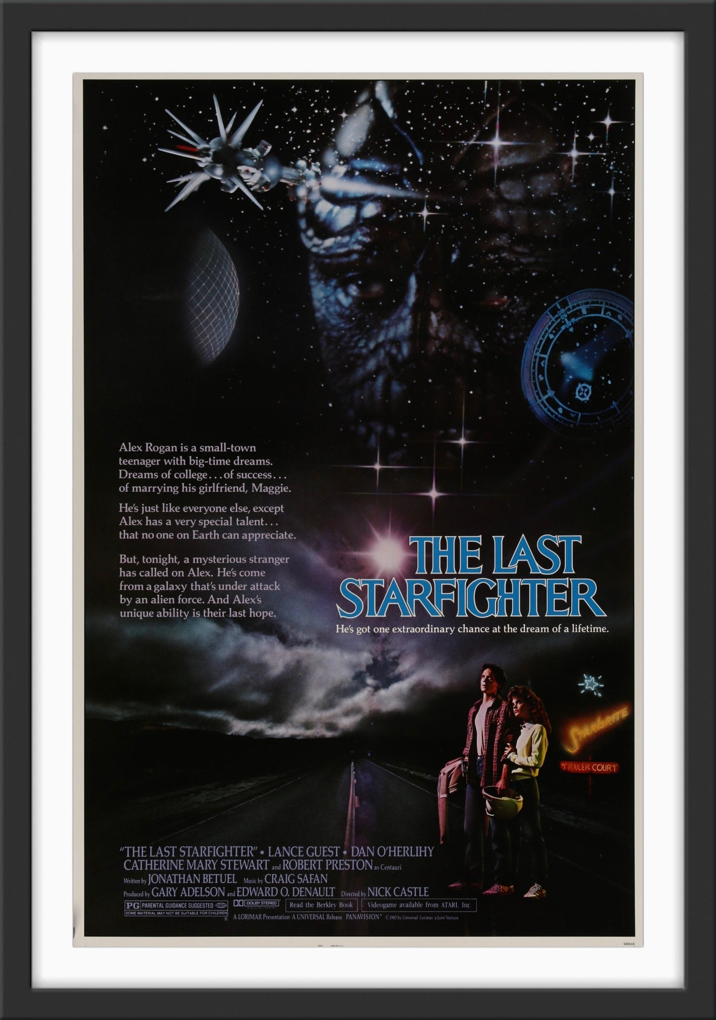 An original movie poster for the film The Last Starfighter