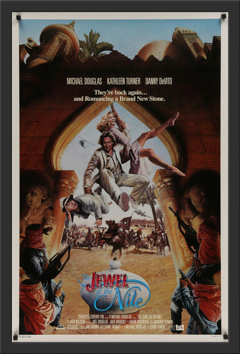 An original movie poster for the film The Jewel of the Nile