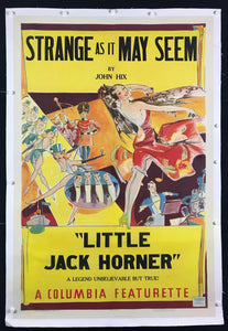 An original movie / film poster from 1937 for Starnge As It May Seem / Little Jack Horner