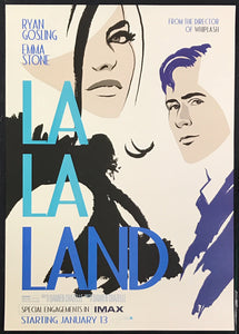 A guaranteed original IMAX movie poster for the film La La Land