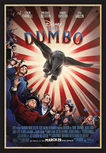An original movie poster for the Disney film Dumbo