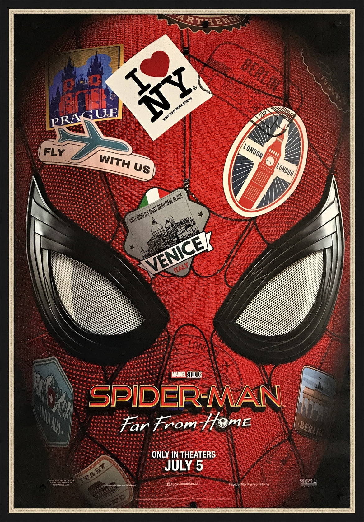 spider man far from home 2019 original movie poster art of the movies. Black Bedroom Furniture Sets. Home Design Ideas