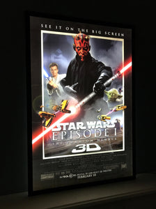 An Art of the Movies Light Box for Movie Posters in a Home Cinema