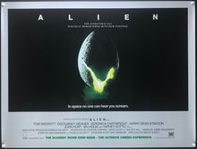 Load image into Gallery viewer, An original movie poster for the Ridley Scott film Alien