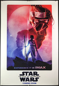 An original IMAX movie poster by Paul Shipper for Star Wars The Rise of Skywalker
