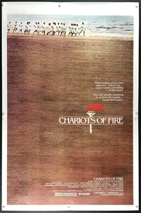 An original movie poster for the film Chariots of Fire