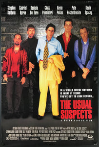 An original movie poster for the film The Usual Suspects