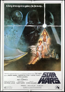 An original Japanese B2 movie poster for the Star Wars film A New Hope 1977