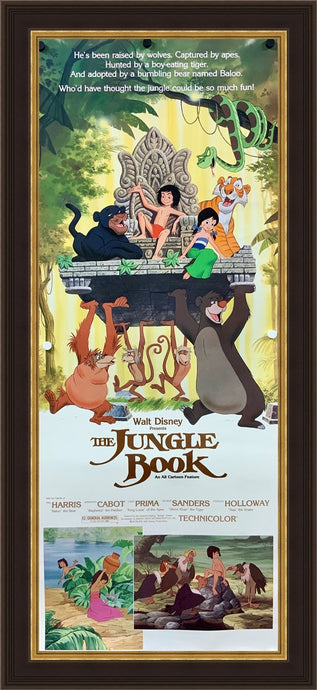 An original movie poster for the Disney film The Jungle Book