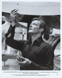 An original theatrical still for the James Bond film Moonraker