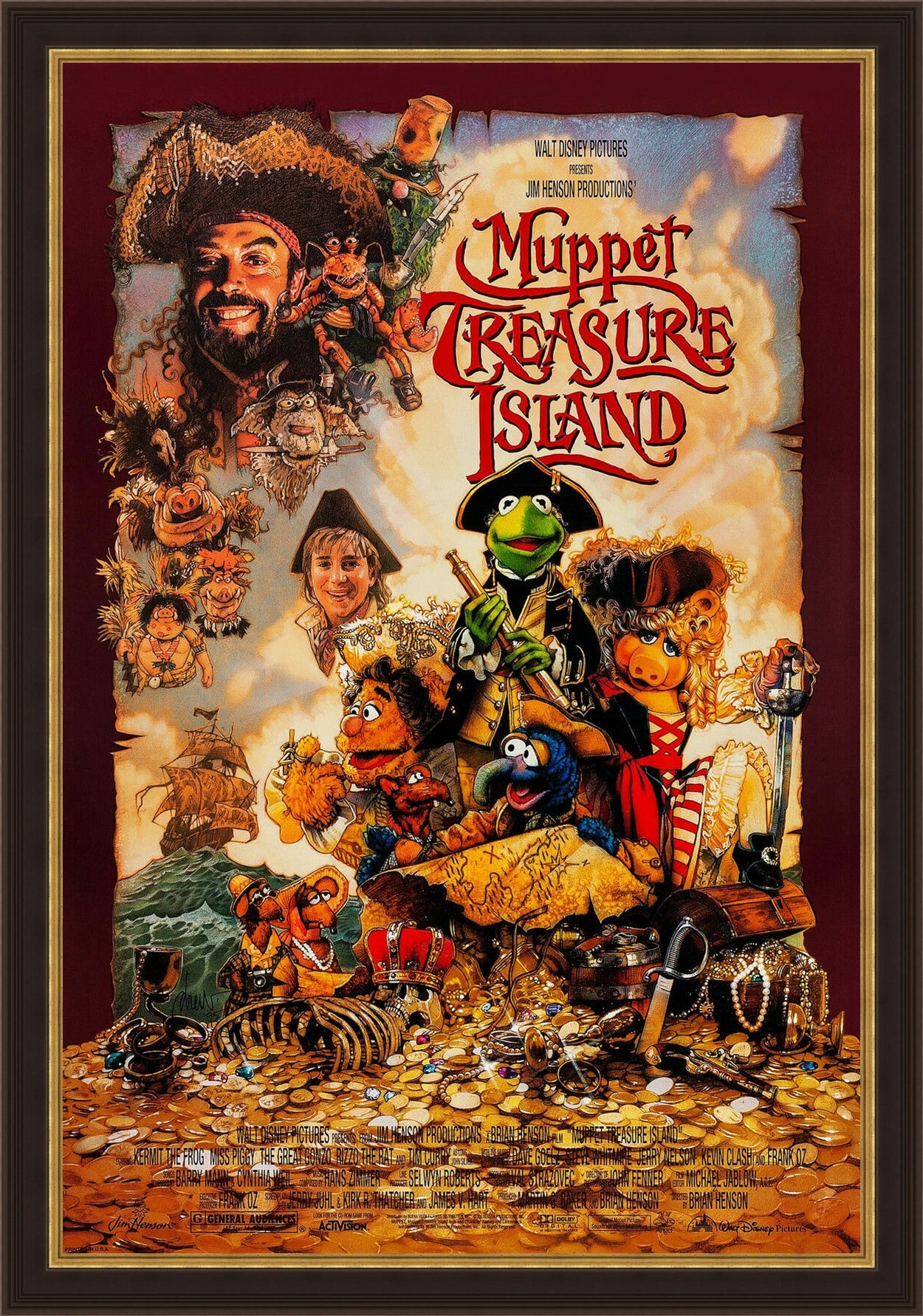 An original movie poster for the Jim Henson film Muppet Treasure Island