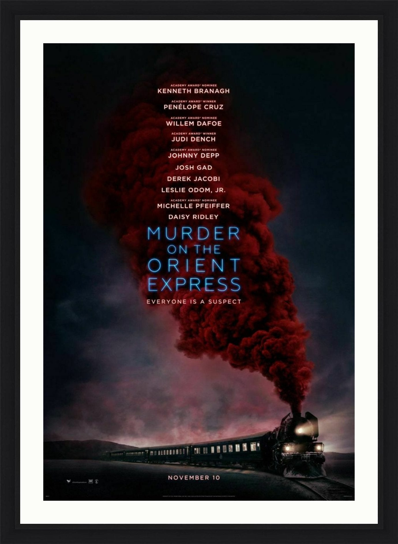An original movie poster for the film Murder on the Orient Express