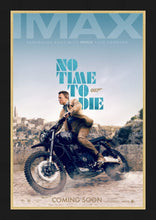 Load image into Gallery viewer, An original IMAX movie poster for the James Bond movie No Time To Die