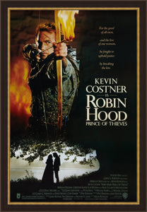 An original movie poster for the film Robin Hood Prince of Thieves