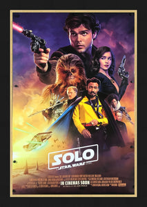 An original movie poster for the film Solo: A Star Wars Story