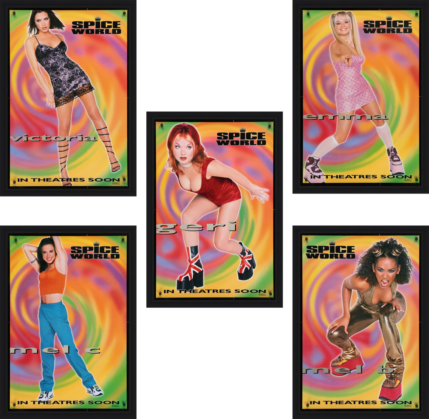 Spice World : The Movie - 1997 (Set of 5)