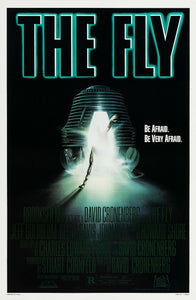 An original movie poster for the film The Fly