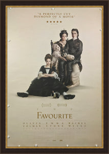 An original movie poster the The Favourite