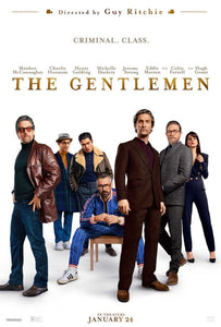 An original movie poster for the Guy Ritchie Film The Gentlemen