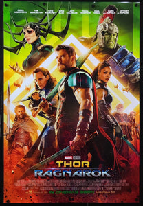 An original movie poster for the Marvel film Thor Ragnarok