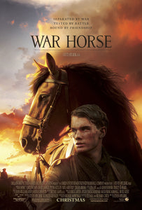An original movie poster for the film War Horse