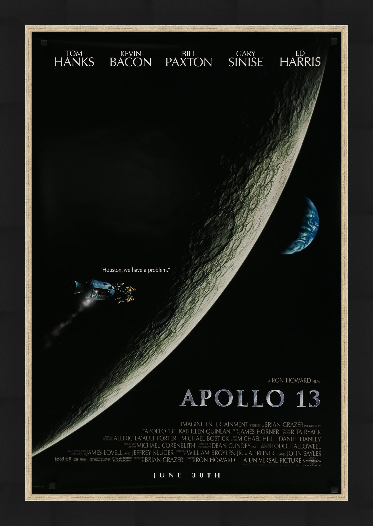 An original movie poster for the film Apollo 13