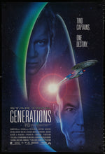 Load image into Gallery viewer, An original movie poster for the film Star Trek Generations