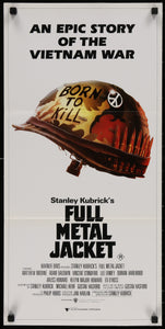 An original Australian Daybill movie poster for Stanley Kubrick's Full Metal Jacket