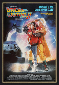 An original movie poster for the film Back to the Future II / 2
