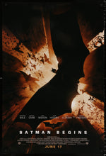 Load image into Gallery viewer, An original movie poster for the Batman film Batman Begins